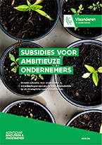 Cover brochure subsidies ambitieuze ondernemers